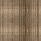 Naadloze fototextuur van de mat van het brownnstro met groen koord Royalty-vrije Stock Afbeelding