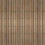 Naadloze fototextuur van de mat van het brownnstro met groen koord Stock Afbeelding