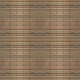 Naadloze fototextuur van de mat van het brownnstro met groen koord Stock Foto's