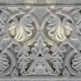 Naadloze fototextuur van het ornament van India op de steenplaten stock foto