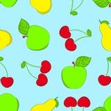 Naadloze fruitachtergrond. Stock Foto's