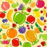 Naadloze fruitachtergrond Stock Afbeeldingen