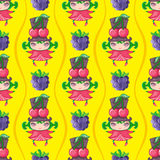Naadloze Fruitige patronenreeks royalty-vrije illustratie