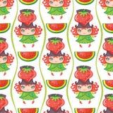 Naadloze Fruitige patronenreeks stock illustratie