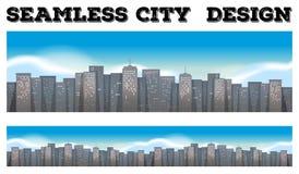 Naadloze gebouwen in de stad stock illustratie