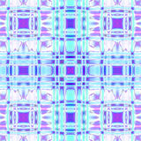 Naadloze gecontroleerde patroon lichtblauwe violette purple Stock Foto