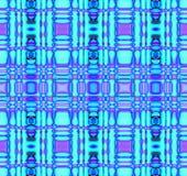 Naadloze gecontroleerde patroon turkooise blauwe purple Stock Foto's