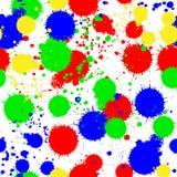 Naadloze gekleurde achtergrond met multi-colored vlekken Stock Afbeeldingen