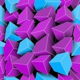 Naadloze gekleurde kubussen met heldere randen royalty-vrije illustratie
