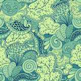Naadloze gekleurde met de hand gemaakte Natuurlijk van patroontracery Royalty-vrije Stock Afbeeldingen