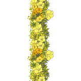 Naadloze gele exotische bloemen als achtergrond Stock Foto