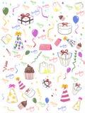 Naadloze gelukkige verjaardagsachtergrond Stock Afbeeldingen