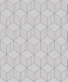 Naadloze Geometrische die Vierkanten uit lijnen worden samengesteld Stock Afbeelding