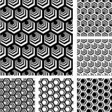 Naadloze geometrische geplaatste patronen. Royalty-vrije Stock Afbeeldingen