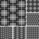 Naadloze geometrische geplaatste patronen. Stock Fotografie