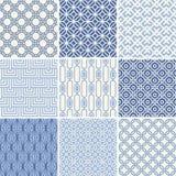 Naadloze geometrische geplaatste patronen Royalty-vrije Stock Foto