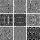 Naadloze geometrische geplaatste texturen Royalty-vrije Stock Foto's