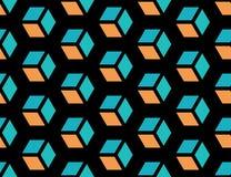 Naadloze geometrische kubusachtergrond Stock Afbeeldingen