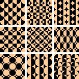 Naadloze geometrische op kunstontwerpen. royalty-vrije illustratie