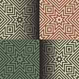 Naadloze geometrische patronen in de retro kleuren vector illustratie