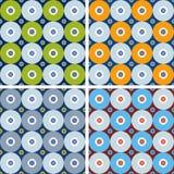 Naadloze geometrische patronen met grijze cirkels Stock Foto's