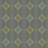 Naadloze geometrische patroon retro illustratie Royalty-vrije Stock Foto's