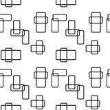Naadloze geometrische vectorachtergrond Royalty-vrije Stock Afbeelding