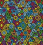 Naadloze geometrische vectorpatroonachtergrond royalty-vrije illustratie