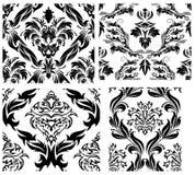 Naadloze geplaatste damastpatronen Royalty-vrije Stock Afbeelding