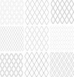 Naadloze geplaatste diamantenpatronen Geometrische texturen royalty-vrije illustratie