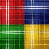 Naadloze geplaatste geruite Schotse wollen stoffen Royalty-vrije Stock Fotografie