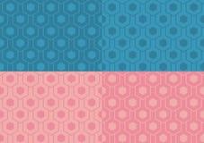 Naadloze geplaatste patronen Stock Afbeelding