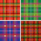 Naadloze geruite Schotse wollen stofplaid Stock Foto's