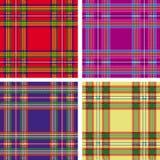Naadloze geruite Schotse wollen stofplaid Stock Fotografie