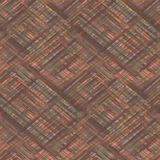 Naadloze geruite Schotse wollen stofplaid Bruine, oranje achtergrond royalty-vrije stock foto