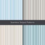 Naadloze gestreepte patronen Geplaatste lijnachtergronden Abstracte illustratie voor decoratie, stof, conceptontwerp Stock Afbeelding