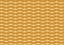 Naadloze gevlechte achtergrond Rieten stro Geweven wilgentakjes Rieten textuur Stock Afbeelding