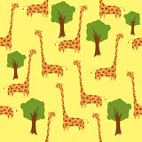Naadloze giraffen Royalty-vrije Illustratie