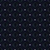 Naadloze glam zwarte gewatteerde achtergrond Royalty-vrije Stock Foto