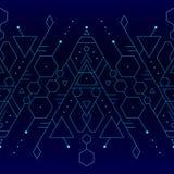 Naadloze gloeiende blauwe achtergrond Royalty-vrije Stock Afbeelding