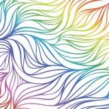 Naadloze golven van regenboog Het kan voor prestaties van het ontwerpwerk noodzakelijk zijn Vector Illustratie