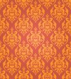 Naadloze gouden damastachtergrond Stock Afbeelding