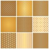 Naadloze gouden patronen Royalty-vrije Stock Foto