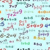 Naadloze grappige wiskunde Stock Foto