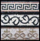 Naadloze grens van marmeren mozaïek Stock Afbeelding