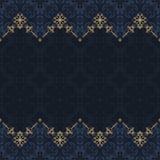 Naadloze grens vector overladen in Oostelijke stijl Islampatroon royalty-vrije illustratie