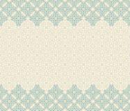 Naadloze grens vector overladen in Oostelijke stijl Islampatroon stock illustratie