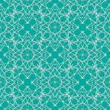 Naadloze groene abstracte geometrische oostelijk met pijlelementen en arabesques stock illustratie