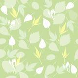 Naadloze groene bladerenachtergrond stock illustratie