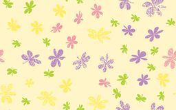 Naadloze Grunge Daisy Flower Abstract Vector Background stock illustratie